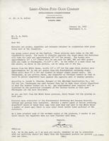 Fred B. Zoll's letter to Everett A. Eakin