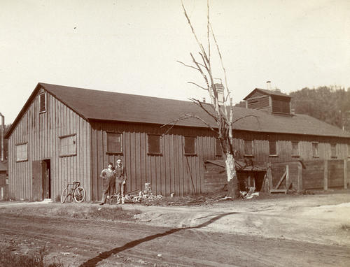 Album A: The Toledo Glass Co., Experimental Glass Plant in Franklin, Pennsylvania (buildings).   Irwing W. Colburn's experimental process was tested here