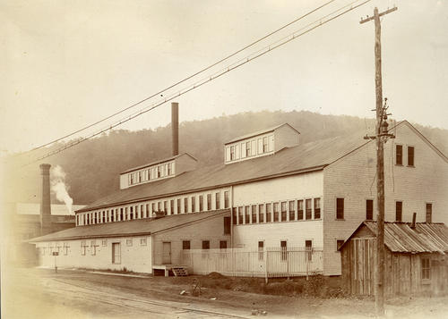 Album B: The Toledo Glass Co., Experimental Glass Plant in Franklin, Pennsylvania (buildings).   Irwing W. Colburn's experimental process was tested here