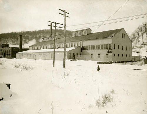 Album C: The Toledo Glass Co., Experimental Glass Plant in Franklin, Pennsylvania (buildings).   Irwing W. Colburn's experimental process was tested here