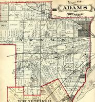 Map of Adams Township
