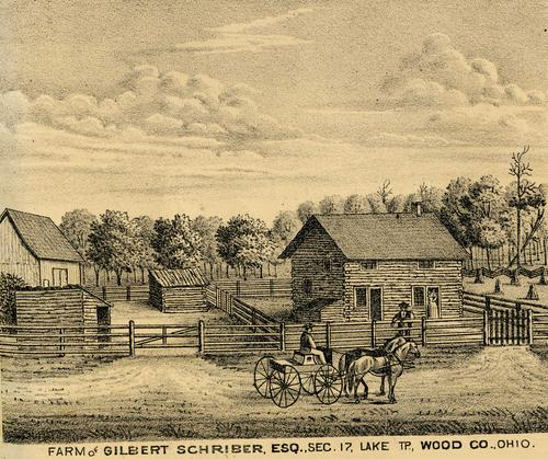 Farm of Gilbert Schriber, Esq., Sec. 17, Lake TP., Wood Co., Ohio., GPS Coordinates: 41.5797001, -83.5105473