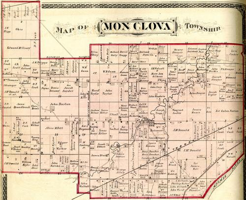 Map of Monclova Township., GPS Coordinates: 41.5586632, -83.73299309999999