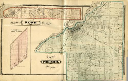Map of Ross Township, Map of Perrysburg Township,, GPS Coordinates: 41.6160017, -83.5374791