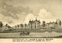 Residences of Jacob and David Beard.