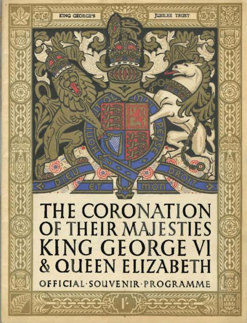 Program of the coronation of King George VI and Queen Elizabeth