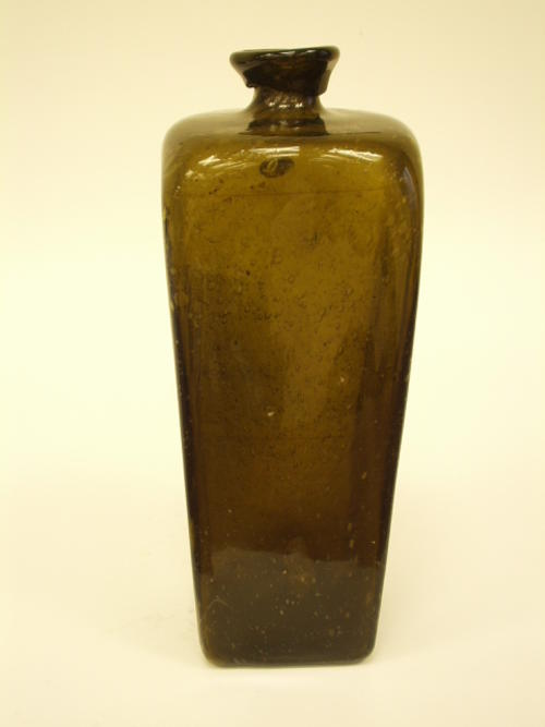 18th Century American Glassmakers, gin or case bottle, English or American