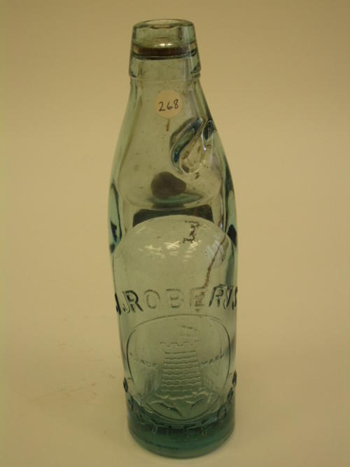 J. Roberts Codd Patent Bottle.  English
