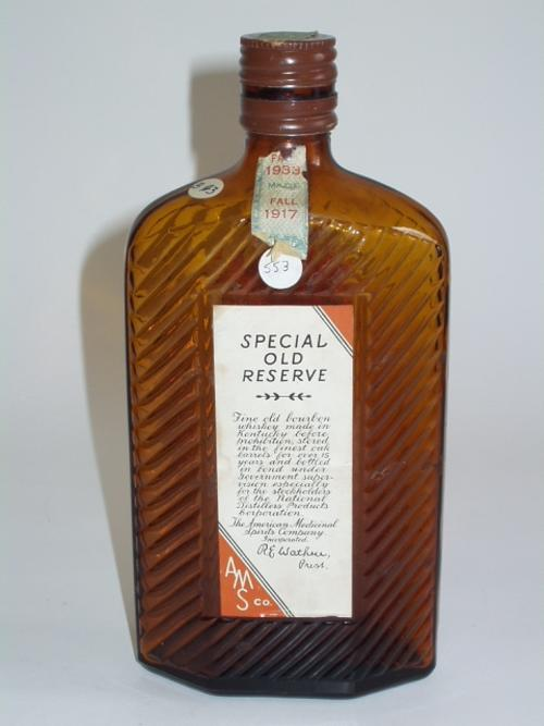 Special Old Reserve, the American Medical Spirits Co., full pint.