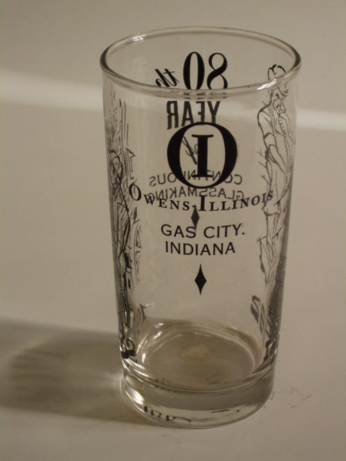 O-I Gas City, Indiana 1892-1972, 80th year of Continuous Glassmaking.  2 copies
