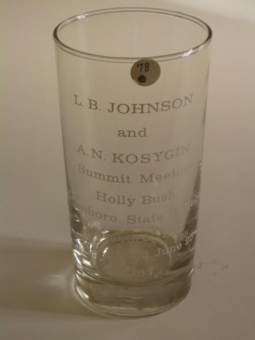 L.B. Johnson and A.N. Kosygin Summit Meeting, Holly Bush, Glassboro Stat College, Glassboro, NJ, June 23 and 25 1967.  5 copies in box 274