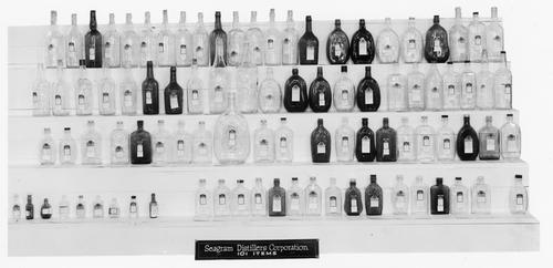 Designs for Seagram Distillers Corporation.  The photographs in this subseries come from the General Service Department/Design Division report on the Toledo Sample Display at the Branch and Plant Managers' Meetings held in Toledo in December 15 through 17, 1940.