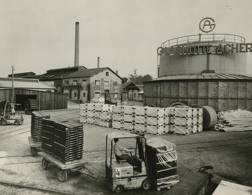 Photograph of Owens-Illinois plant in Germany, ca. 1950s.