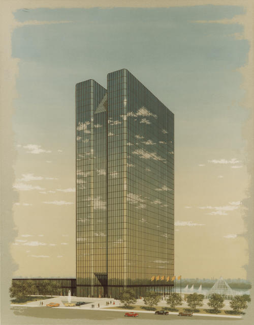 Artist's rendering of the new Owens-Illinois headquarters, One Seagate.
