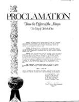 Proclamation from Mayor