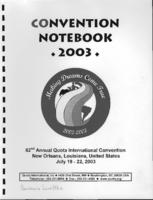 Quota Club International Convention Notebook