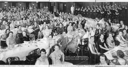 This photo was taken at the 1936 International Quota Club Convention in Chicago.
