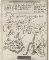V-mail with sketch, Nov. 21, 1943