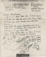 V-mail with sketch, Feb. 10, 1944
