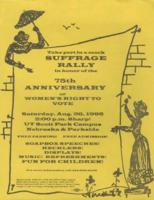 Suffrage rally flyer