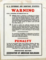 Espionage and Sabotage Warning Poster