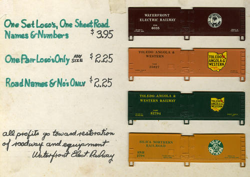 HO-scale panels were on sale to raise funds towards restoring the Waterfront Electric Railway