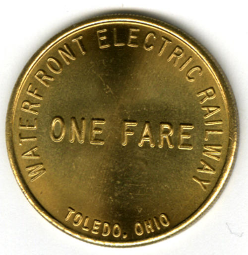 Waterfront Electric Railway fare token