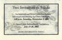 Two Invitations