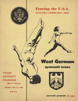 West Germany Gymnastics Team U.S. tour program
