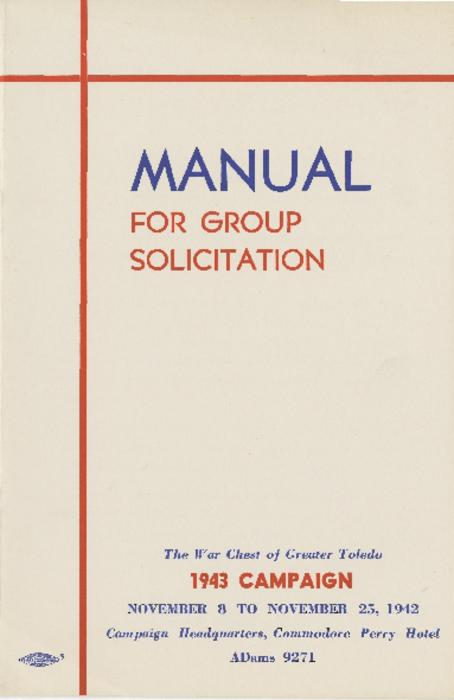 12 page manual that details the guidelines for the 1943 campaign