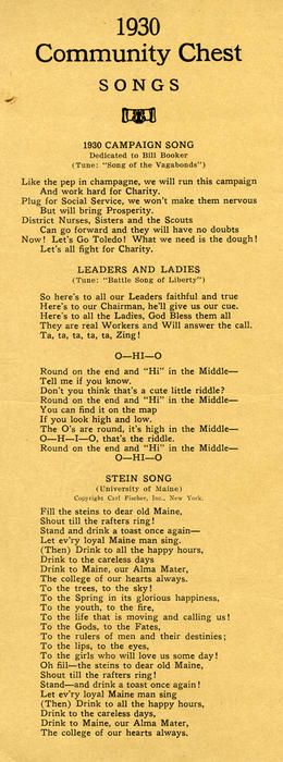 Community Chest songs from 1930