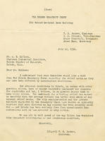 W. M. Booker's letter