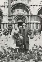 Ward and Mariam Canaday with pigeons