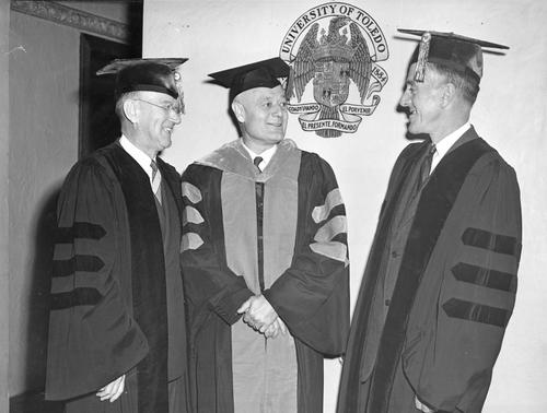 From left: Ward M. Canaday, President Philip C. Nash, Loverett (Dover, Mass.)
