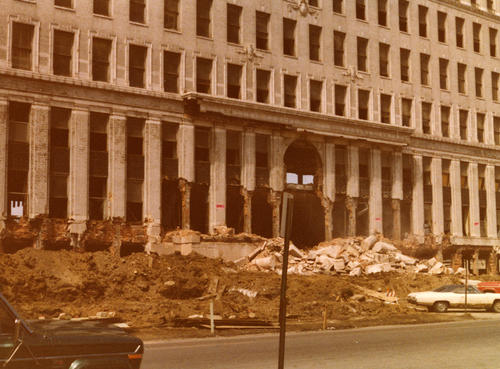 Demolition of the Wyllis-Overland Administration Building, August 12, 1979: Just before demolition