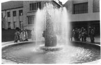 The Centennial Mall, Fountain in front of the Student Union.