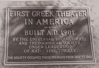 Greek Theater plaque