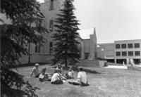 Photographs of students outdoors