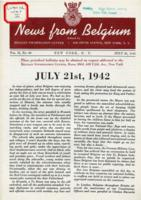 News from Belgium, vol. II, no. 30, July 25, 1942