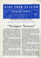 News from Belgium and the Belgian Congo, vol. III, no. 36, September 4, 1943