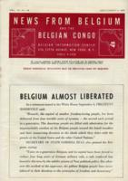 News from Belgium and the Belgian Congo, vol. IV, no. 36, September 9, 1944