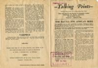 Talking Points, December 1-December 8, 1942