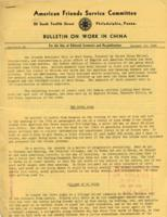 Bulletin on Work in China #1, January 10, 1942