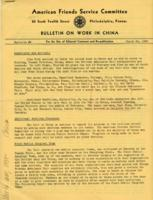 Bulletin on Work in China #8, March 29, 1943