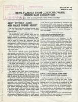 News Flashes from Czechoslovakia Under Nazi Domination, no. 125, March 23, 1942