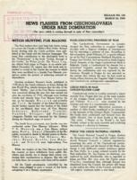 News Flashes from Czechoslovakia Under Nazi Domination, no. 126, March 30, 1942