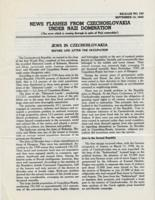 News Flashes from Czechoslovakia Under Nazi Domination, no. 150, September 14, 1942