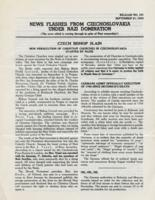 News Flashes from Czechoslovakia Under Nazi Domination, no. 151, September 21, 1942