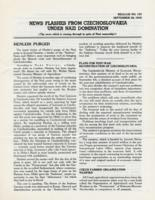 News Flashes from Czechoslovakia Under Nazi Domination, no. 152, September 28, 1942