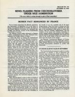 News Flashes from Czechoslovakia Under Nazi Domination, no. 154, October 12, 1942